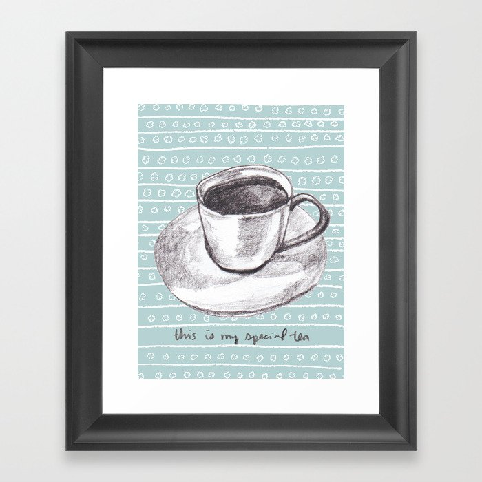 My Special Tea Framed Art Print