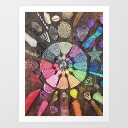 Rainbow Tassel Creative Inspiration Art Print