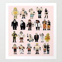 Wrestling Entertainers Poster Art Print