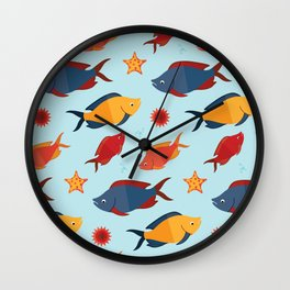 Fishes in the sea Wall Clock
