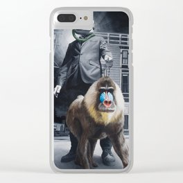 Civilized Society Clear iPhone Case
