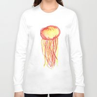 jelly fish Long Sleeve T-shirts featuring Jelly fish on fire by Line H H