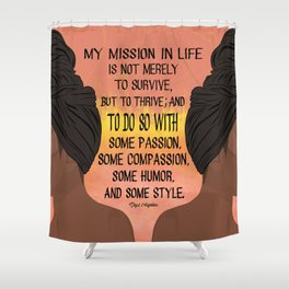 Serving, Ms. Angelou Shower Curtain