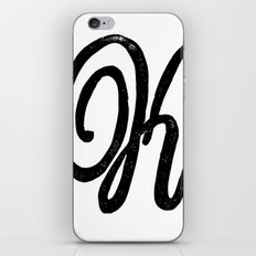 Monogrammed Letter K iPhone & iPod Skin