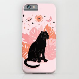 black panther spirit animal iPhone Case