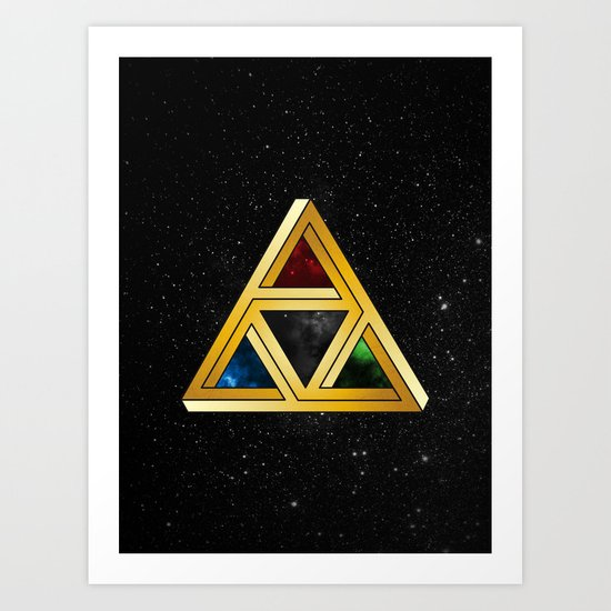The Tri[llusion] Force Art Print