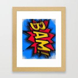 Bam Cartoon Comic Book Comics Comicon Cosplay Pop Art Gift Idea Apparel and Accessories Gifts Framed Art Print