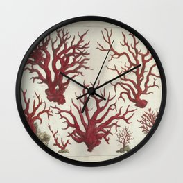 Naturalist Red Coral Wall Clock