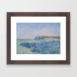 Shadows on the Sea at Pourville by Claude Monet Framed Art Print
