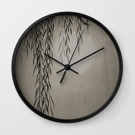 Willow in the moonlight Wall Clock