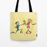 lovers Tote Bags featuring Lovers by Giuseppe Lentini