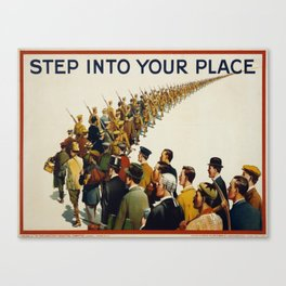 Vintage poster - Step into your place Canvas Print