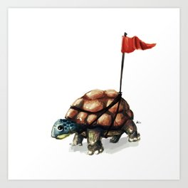 A visible turtle Art Print