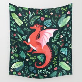 Tropical Dragon Wall Tapestry