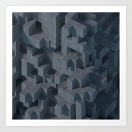 Concrete Abstract Art Print
