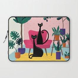 Sleek Black Cats Rule In This Urban Jungle Laptop Sleeve