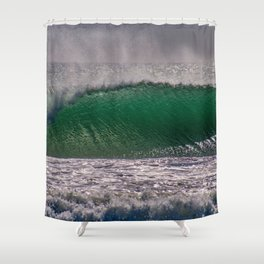 Offshore Texture Shower Curtain