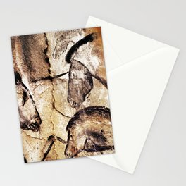 Facing Horses // Chauvet Cave Art Stationery Cards