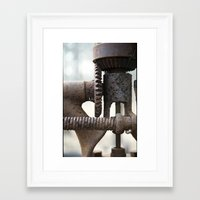 gears of war Framed Art Prints featuring GEARS by The Family Art Project