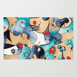 Abstrat High Tea Contrast Rug
