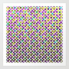 Polkadots Jewels G192 Art Print