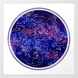 Star Map III Art Print