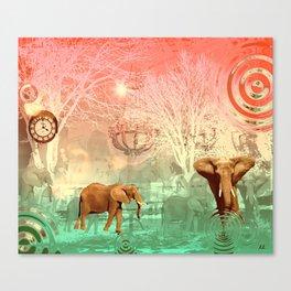 Elephants in the Ballroom Canvas Print