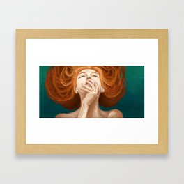 Red Head Framed Art Print