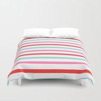 stripe Duvet Covers featuring Stripe by Andrew Jonathan Baker