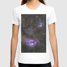 Lagoon and Trifid Nebula in Sagitarius T-shirt
