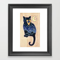 Ouija Cat Framed Art Print