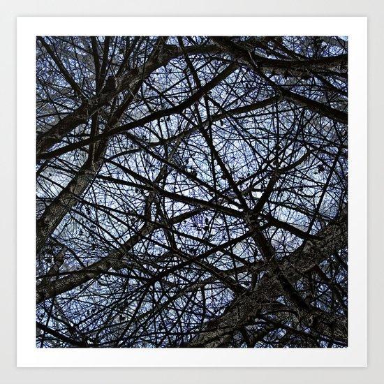 tangled remnants ever ending Art Print