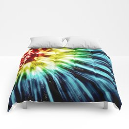 Abstract Dark Tie Dye Comforters