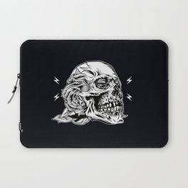 Skullflower Black and White  Laptop Sleeve