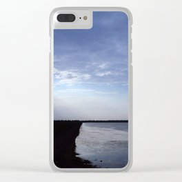 Lakeside sunrays Clear iPhone Case