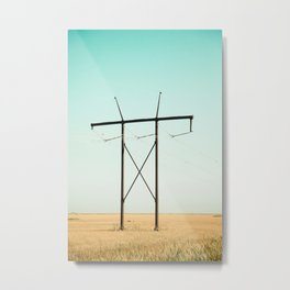 Don Quixote of La Mancha against the windmills Metal Print