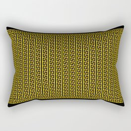 Greek Key Full - Gold and Black Rectangular Pillow