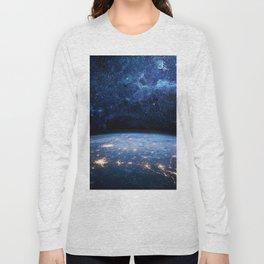 Earth and Galaxy Long Sleeve T-shirt