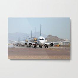 Boeing 737 takeoff lineup Metal Print