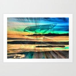 Stearman Sky Dancing Art Print