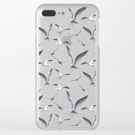 Flying Seagulls over the Ocean- Maritime Pattern - Mix & Match with Simplicity of life Clear iPhone Case
