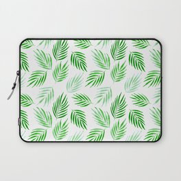 Tropical areca palms pattern in green Laptop Sleeve
