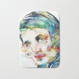 AYN RAND - watercolor portrait Bath Mat