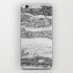 Marble - Silver White Marble Swirls Design iPhone & iPod Skin