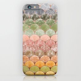 Watercolor art decó pattern iPhone Case
