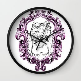 How Will I Meow Graphic Frame Wall Clock