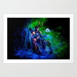 Little Loki and The Jellyfish 3 Art Print