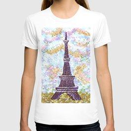 Eiffel Tower Pointillism by Kristie Hubler T-shirt