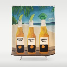 Greedy - Corona Ad Painting Shower Curtain