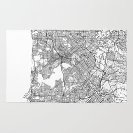 Perth Map White Rug